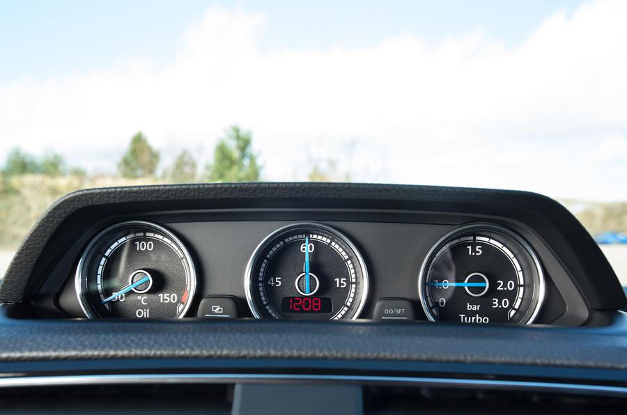 Volkswagen Scirocco R gauges