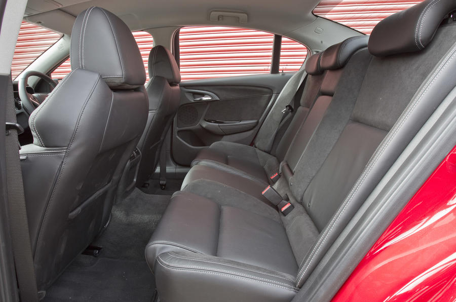 Vauxhall VXR8 GTS rear seats