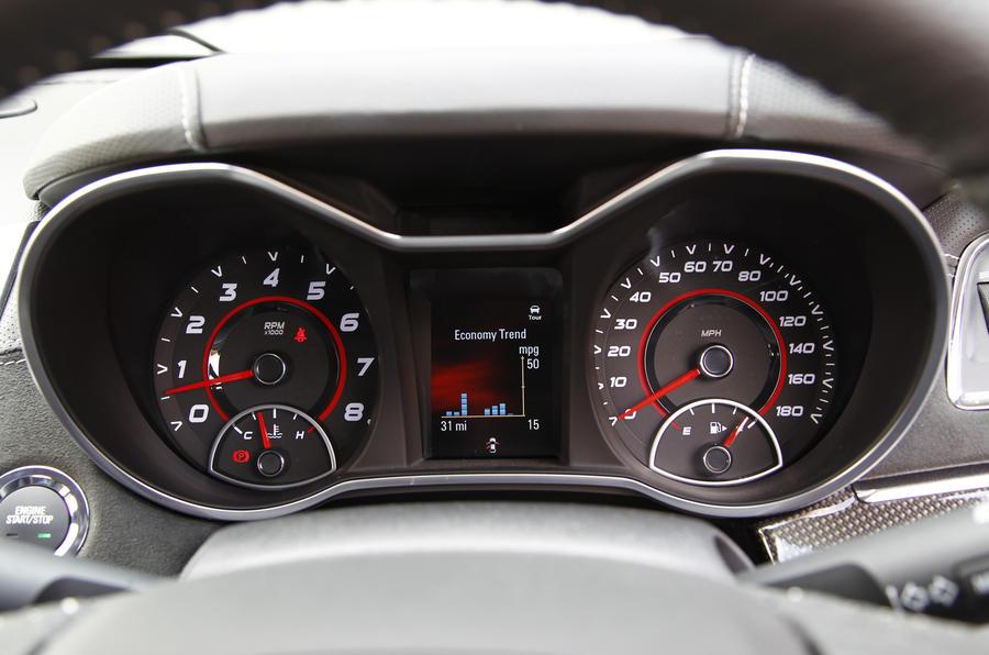Vauxhall VXR8 GTS instrument cluster